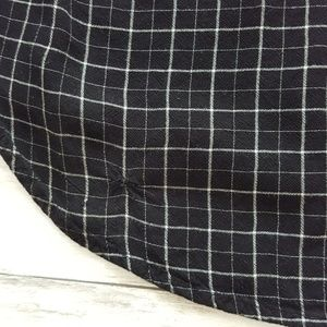 Merona Tops - Merona rayon check pop over blouse size M